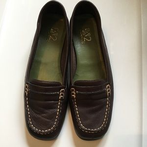 A2 by Aerosoles brown leather loafer